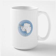 Map Antarctica Mug