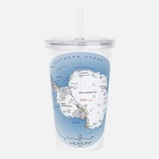 Map Antarctica Acrylic Double-wall Tumbler