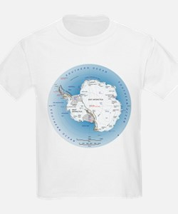 Map Antarctica T-Shirt