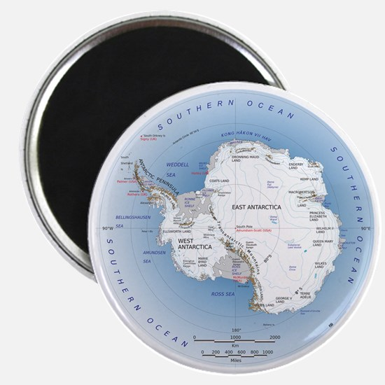 "Map Antarctica 2.25"" Magnet (10 pack)"