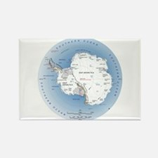 Map Antarctica Rectangle Magnet