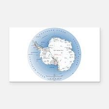 Map Antarctica Rectangle Car Magnet