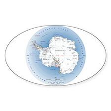 Map Antarctica Decal