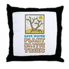 Plant Native Trees Throw Pillow