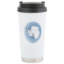 Map Antarctica Travel Mug