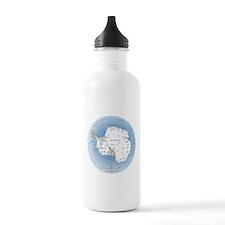Map Antarctica Water Bottle