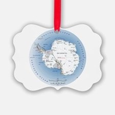 Map Antarctica Ornament