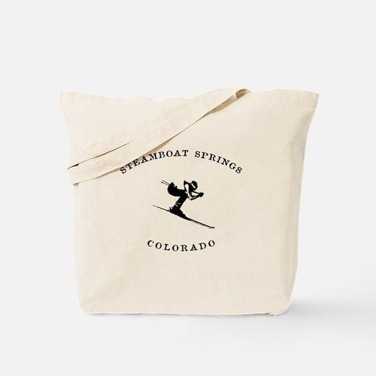 Steamboat Springs Colorado Ski Tote Bag