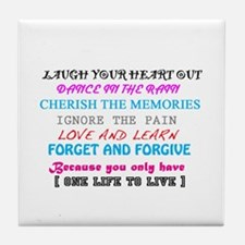 Love and Life Tile Coaster