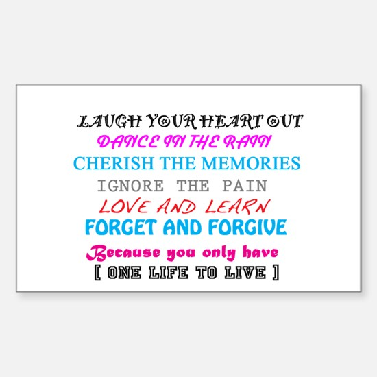 Love and Life Rectangle Decal