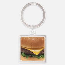 Burger Square Keychain