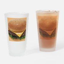 Burger Drinking Glass