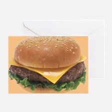 Burger Greeting Card