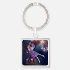 Cosmic Couple Square Keychain