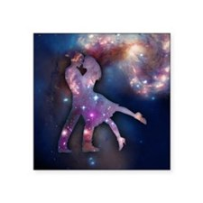 "Cosmic Couple Square Sticker 3"" x 3"""