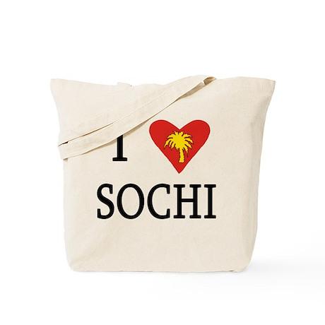 I Love Sochi Russia Tote Bag