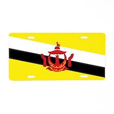 Brunei Flag Aluminum License Plate