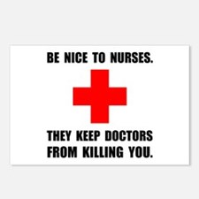 Be Nice To Nurses Postcards (Package of 8)