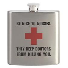 Be Nice To Nurses Flask