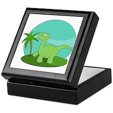 Cartoon Brontosaurus Keepsake Box