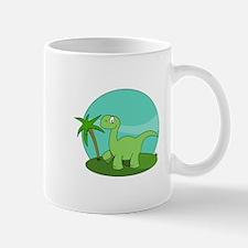 Cartoon Brontosaurus Mugs