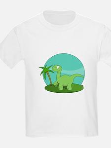 Cartoon Brontosaurus T-Shirt