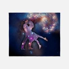 Cosmic Couple Throw Blanket
