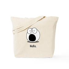 Hello Cartoon Tote Bag