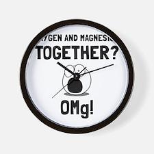 OMG Oxygen Magnesium Wall Clock