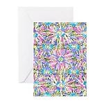 Pastel Bursts 1 Greeting Cards (Pk of 10)