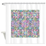 Pastel Bursts 1 Shower Curtain