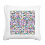 Pastel Bursts 1 Square Canvas Pillow