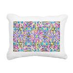Pastel Bursts 1 Rectangular Canvas Pillow
