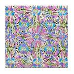 Pastel Bursts 1 Tile Coaster