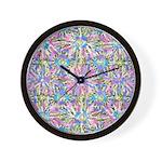 Pastel Bursts 1 Wall Clock