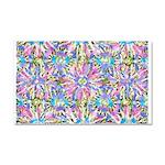 Pastel Bursts 1 Car Magnet 20 x 12