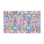 Pastel Bursts 1 Rectangle Car Magnet