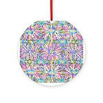 Pastel Bursts 1 Ornament (Round)
