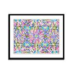 Pastel Bursts 1 Framed Panel Print