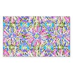 Pastel Bursts 1 Sticker (Rectangle)