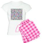 Pastel Bursts 1 Women's Light Pajamas