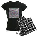 Pastel Bursts 1 Women's Dark Pajamas
