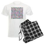 Pastel Bursts 1 Men's Light Pajamas