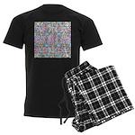 Pastel Bursts 1 Men's Dark Pajamas