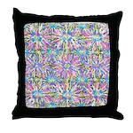 Pastel Bursts 1 Throw Pillow