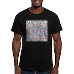 Pastel Bursts 1 Men's Fitted T-Shirt (dark)