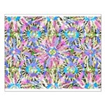 Pastel Bursts 1 Small Poster