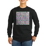 Pastel Bursts 1 Long Sleeve Dark T-Shirt