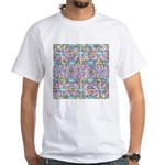 Pastel Bursts 1 White T-Shirt