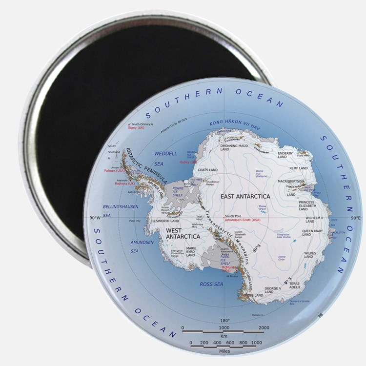 Antarctica Map Magnet Magnets